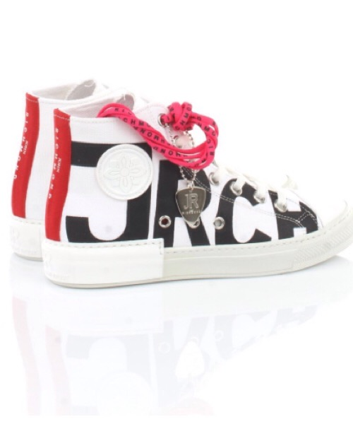 John Richmond - Sneakers in canvas bianco uomo