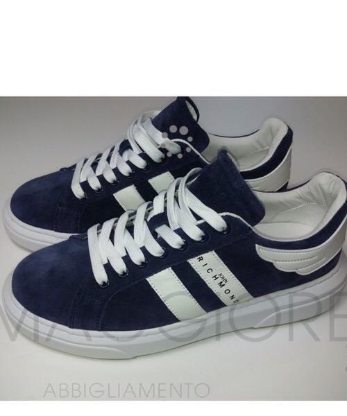 John Richmond - Sneakers in canvas blu