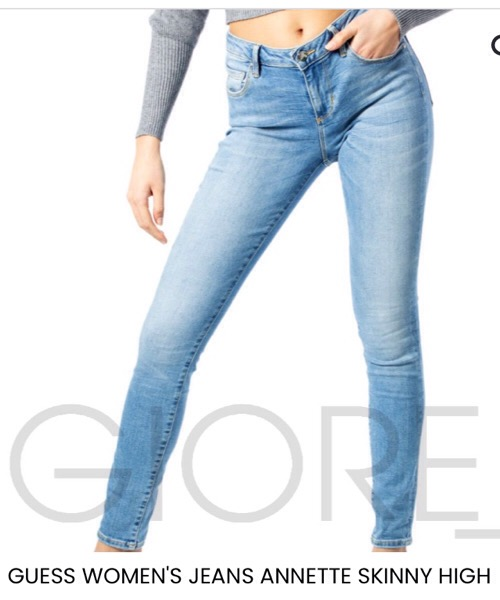 GUESS WOMEN'S JEANS ANNETTE SKINNY HIGH